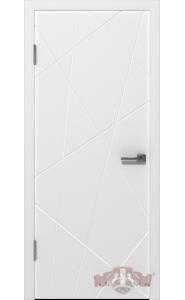 Дверь ВФД Авангард П3 26ДГ0 Белая эмаль