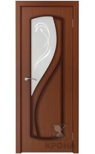 Дверь Крона Венера Макоре стекло матовое с рисунком
