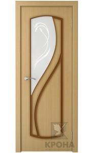 Дверь Крона Венера Дуб стекло матовое с рисунком