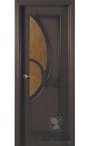 Дверь Крона Верона Венге стекло дельта-бронза