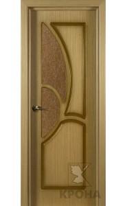 Дверь Крона Верона Дуб стекло дельта-бронза
