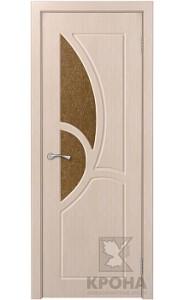 Дверь Крона Верона Беленый дуб стекло дельта-бронза