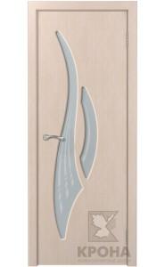 Парус Беленый дуб стекло матовое с рисунком