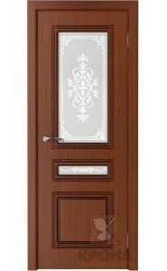 Дверь Крона Стиль Макоре стекло матовое с рисунком