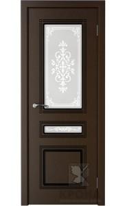 Дверь Крона Стиль Венге стекло матовое с рисунком