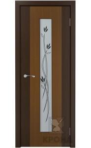 Элит Орех стекло белое с рисунком