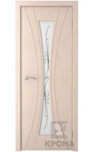 Эстет Беленый дуб стекло белое с рисунком