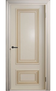 Дверь Поло Молочный с золотом Глухие