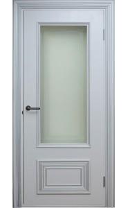 Дверь Поло Белые с серебром Остекленные