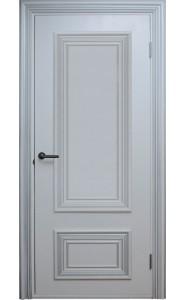 Дверь Поло Белые с серебром Глухие