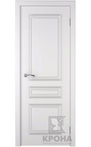Дверь Крона Стиль Белая эмаль ДГ