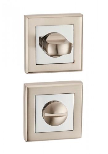 Дверная завертка Punto BK6 QL SN/CP-3 матовый никель - хром