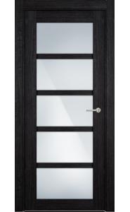 122ТР Дуб черный стекло Триплекс белый