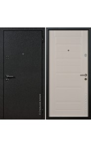 Дверь Стальная Линия Вега Шелк черный - Пломбир