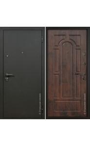 Дверь Стальная линия Оптима Шелк черный - Тиковое дерево