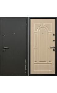 Дверь Стальная линия Оптима Шелк черный - Венге светлый