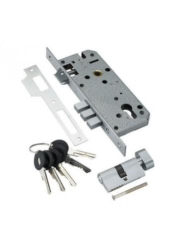 Замок с секретным цилиндром Adden Bau Lock 4585 5-60B D Хром