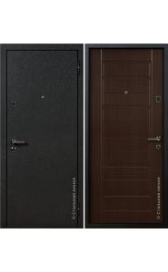 Дверь Стальная Линия Вега Шелк черный - Венге темный