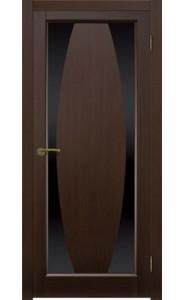 Дверь Матадор Атик 3 Венге Стекло черное
