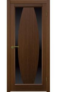 Дверь Матадор Атик 3 Орех люкс Стекло черное