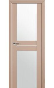 Дверь Профиль Дорс 10U Капучино Сатинат Стекло Белый Триплекс