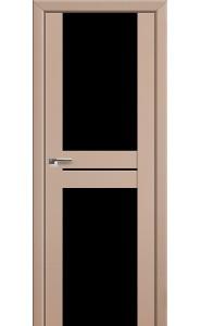 Дверь Профиль Дорс 10U Капучино Сатинат Стекло Черный Триплекс