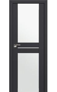 Дверь Профиль Дорс 10U Антрацит Стекло Белый Триплекс