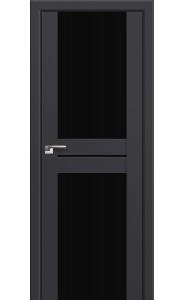 Дверь Профиль Дорс 10U Антрацит Стекло Черный Триплекс