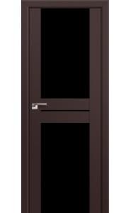 Дверь Профиль Дорс 10U Темно-коричневый Стекло Черный Триплекс