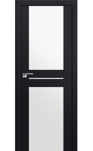 Дверь Профиль Дорс 10U Черный матовый Стекло Белый Триплекс