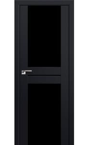 Дверь Профиль Дорс 10U Черный матовый Стекло Черный Триплекс