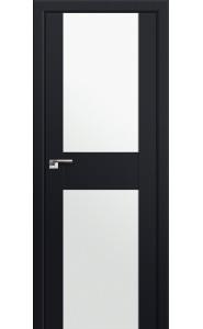 Дверь Профиль Дорс 11U Черный матовый Стекло Белый Триплекс