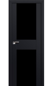 Дверь Профиль Дорс 11U Черный матовый Стекло Черный Триплекс