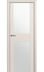 Дверь Профиль Дорс 11U Магнолия Сатинат Стекло Белый Триплекс