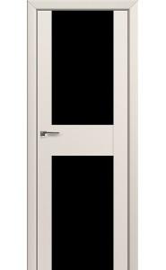 Дверь Профиль Дорс 11U Магнолия Сатинат Стекло Черный Триплекс
