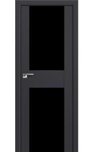 Дверь Профиль Дорс 11U Антрацит Стекло Черный Триплекс