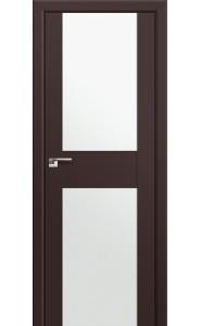 Дверь Профиль Дорс 11U Темно-коричневый Стекло Белый Триплекс