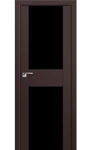 Дверь Профиль Дорс 11U Темно-коричневый Стекло Черный Триплекс