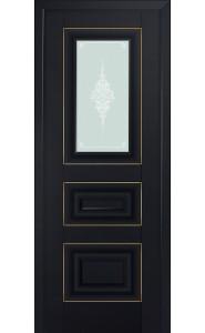 26U Черный матовый Стекло Кристалл Матовый Золото
