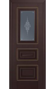 26U Темно-коричневый Стекло Кристалл Графит Золото