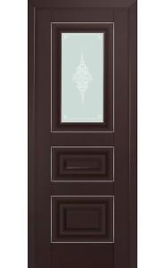 26U Темно-коричневый Стекло Кристалл Матовый Серебро