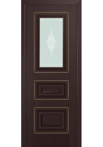 26U Темно-коричневый Стекло Кристалл Матовый Золото