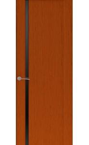 Дверь Океан Буревестник 1 Красное дерево Стекло черное