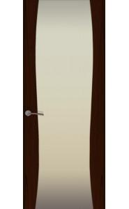 Дверь Океан Буревестник-2 Бабочки Ясень винтаж Стекло белое