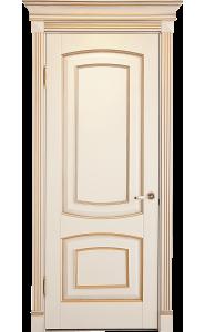 Дверь Лидер Елена Беленый бук патина золото ДГ