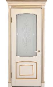 Дверь Лидер Елена Беленый бук патина золото ДО