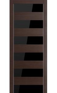 Дверь Profil doors 8Z Венге Кроскут Черный лак