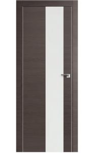 Дверь Арт Деко Ветра 1 Беленый дуб Стекло бронза с рисунком