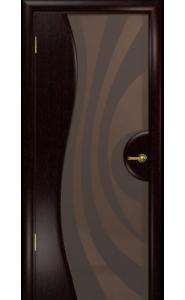 Дверь Арт Деко Ветра 1 Венге Стекло бронза с рисунком