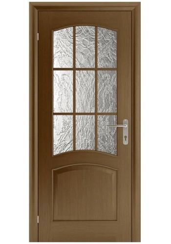 Дверь Белоруссии Капри 3 Дуб тонированный ДО